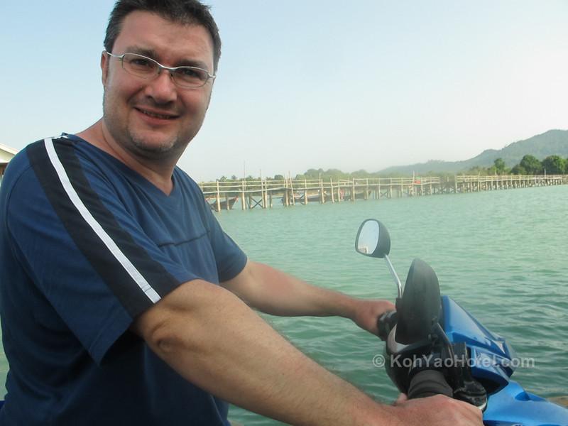on the longtail boat crossing between koh yao noi and koh yao yai