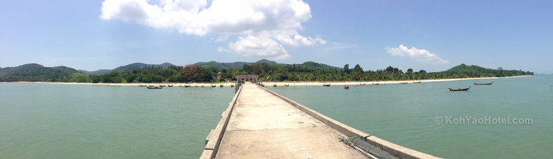 view from the pier next to baan taranya resort koh yao yai