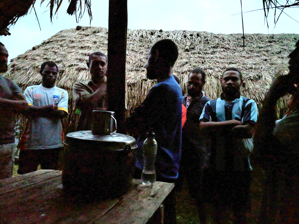 For the first time the porters gather round and sing for us as they will do every evening - the harmonies are confident and sung with gusto.   And so to bed at about 6:30.