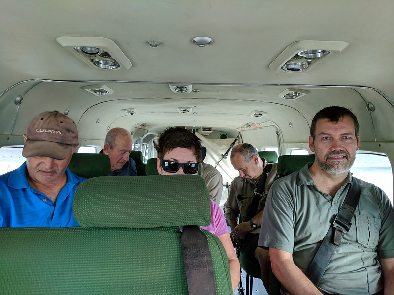 On board the plane - a charter to Kokoda