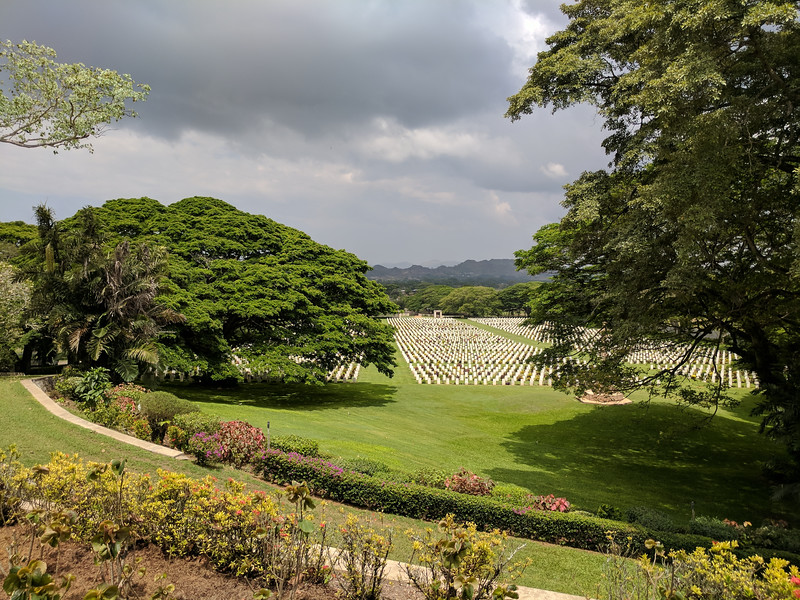 Bomana War Cemetery on the way into Port Moresby where the fallen from The Kokoda Track were interred.