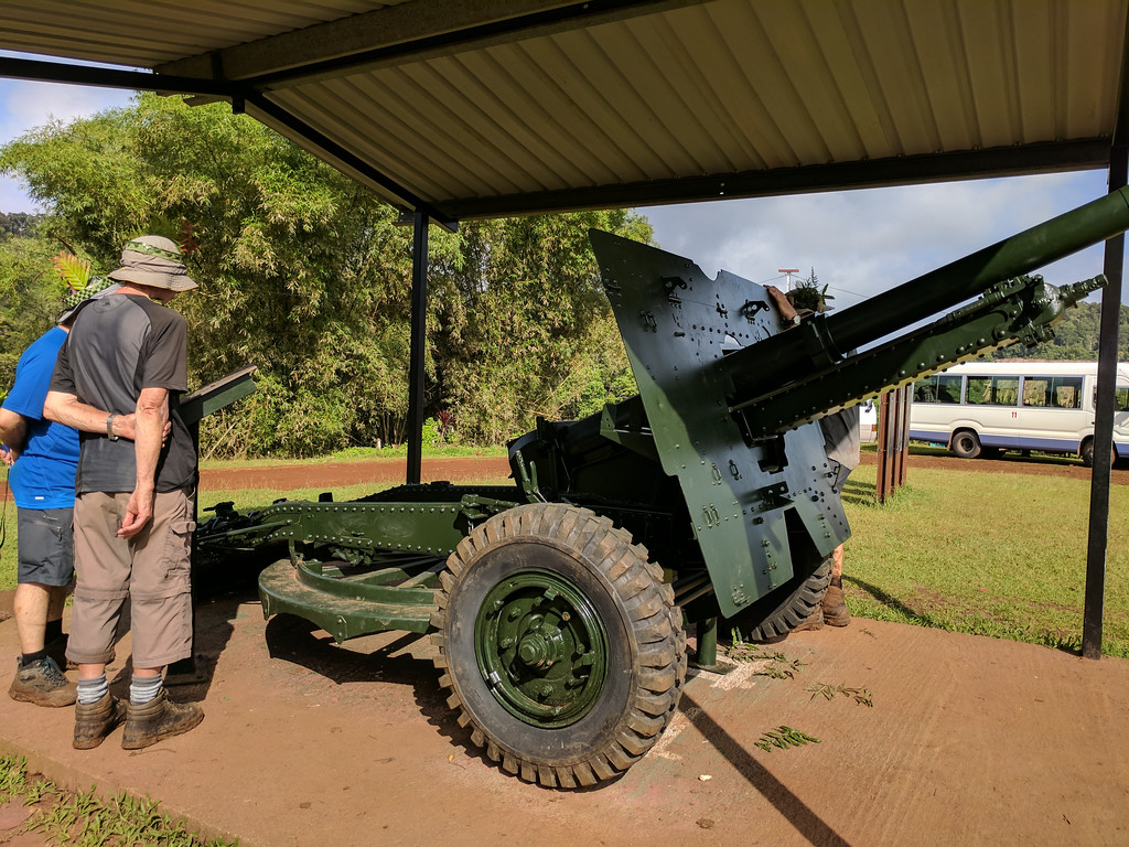 The field gun receives attention