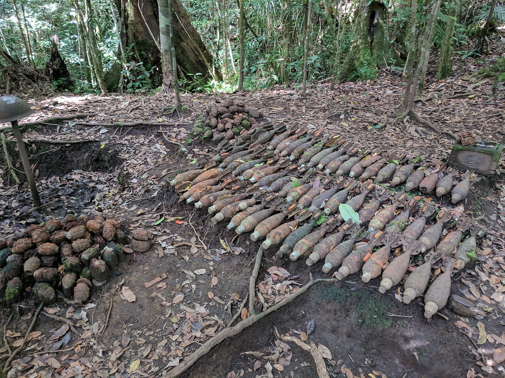 Some of the tons of ordnance left after the Japanese withdrawal