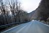 Riksvei 19, like ved avkjøring til Mellomriksvei til Sverige. Trældal ned til venstre.