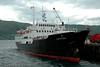 Gamle hurtigruteskipet Lofoten til kai i Narvik. Skipet er bygget i 1964.