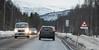 E6 mellom Tromsø og Narvik, 1. påskedag 2016. Rolig trafikk.