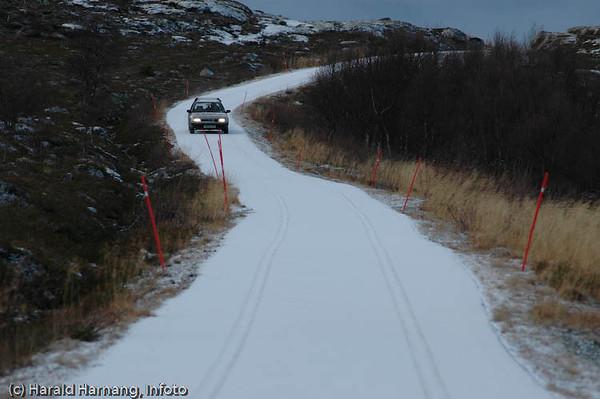 Vei fra Skarstad til Finnvika i Efjord