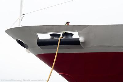9. april 2014, Hurtigruteskipet Richard With til kai i Brønnøysund på tur sør