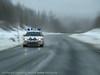 E6, Indre Troms, påsketrafikk med UP på veien.