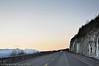 Riksvei 19, Herjangsfjellet, sørhimmel, mørketid.