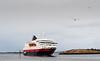 9. april 2014, Hurtigruteskipet Richard With ankommeri Brønnøysund på tur sør