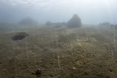 Diving off an Active Volcano