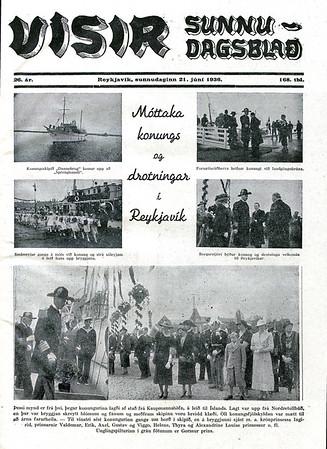 Umfjöllun í sunnudagsútgáfu Dagblaðsins Vísis þann 21. júní 1936. (www.timarit.is)
