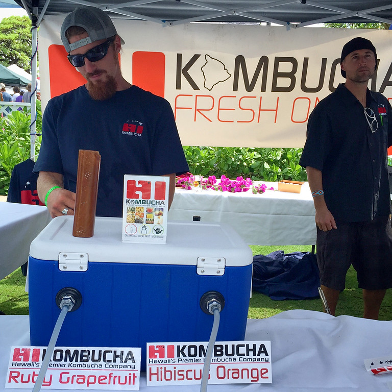 Not all of the brews were beer: HI Kombucha, a local kombucha (fermented tea) brewer