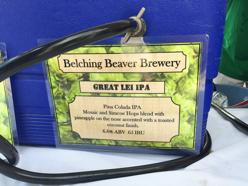 A Hawaiian inspired IPA from Belching Beaver Brewery - Kona Brewers Festival, 2015.