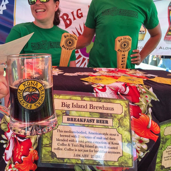 Big Island Brewhaus, one of the Big Island local brewers - Kona Brewers Festival, 2015.