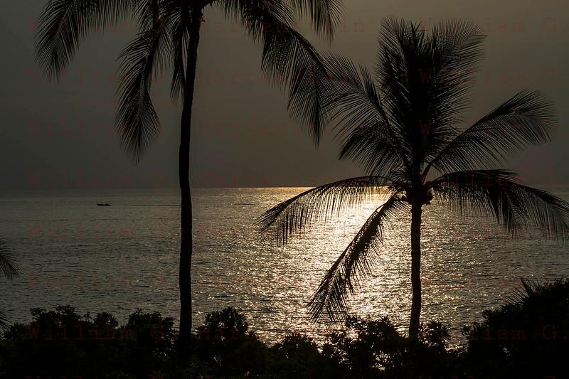 Sunset over Whites Sands Beach Kona, HI. 11-25-17