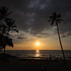 Sunset over White Sands Beach Kona, HI 11-26-17