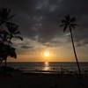 Sunset over White Sands Beach Kona, HI 11-26-17