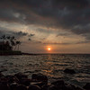 Sunset on the Kona Coast Kona, HI 11-26-17