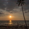 Sunset over Volleyball game White Sands Beach, Kona, HI 11-26-17