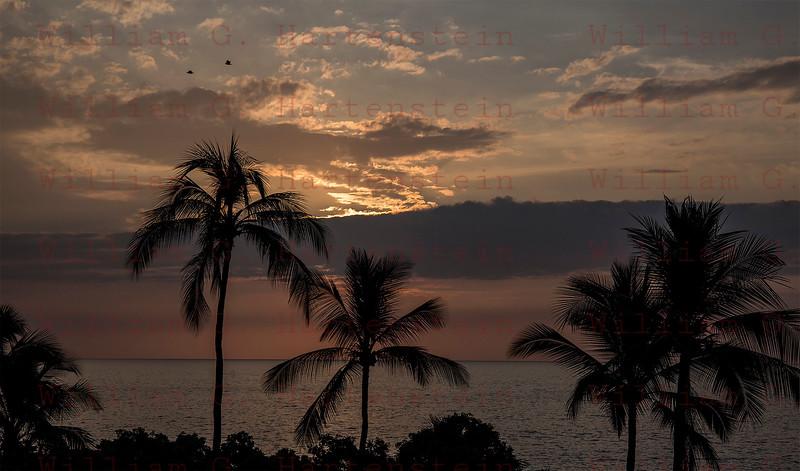 Sunset of Magic Beach Kona, HI 11-29-17