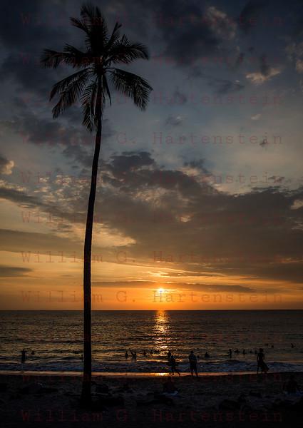 Sunset over Magic Sands Beach Kona, HI 11-30-17