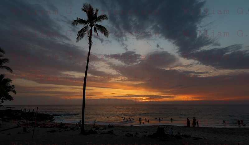 Sunset over Magic Sands Beach Kona, HI 11-30-17