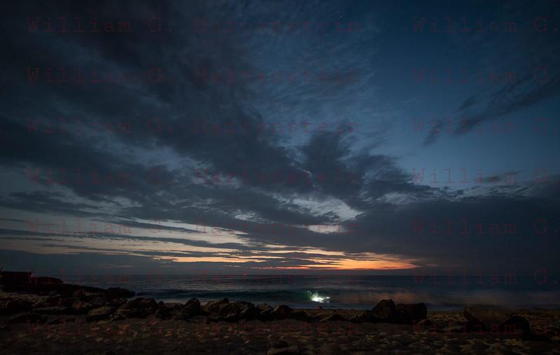 Night Body Surfing at Magic Sands Beach Kona, HI 11-30-17