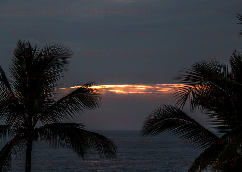 Sunset over Magic Sands Beach Kona, HI 11-27-17