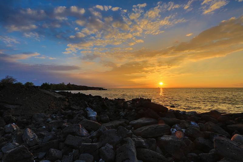 9-19-14 Sunset in Kona, HI