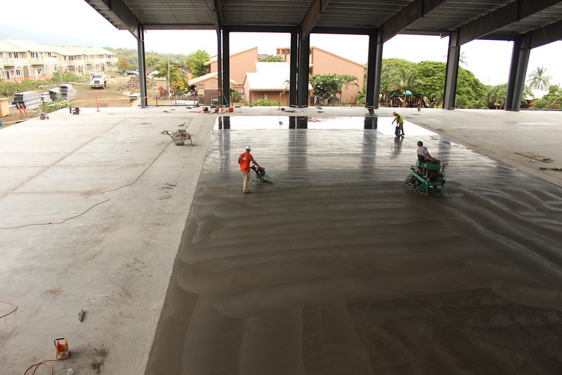 Continuing the concrete pour