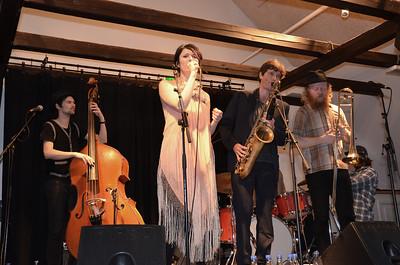 Kira Skov med band i Holbæk Jazzklub 4. marts 2012