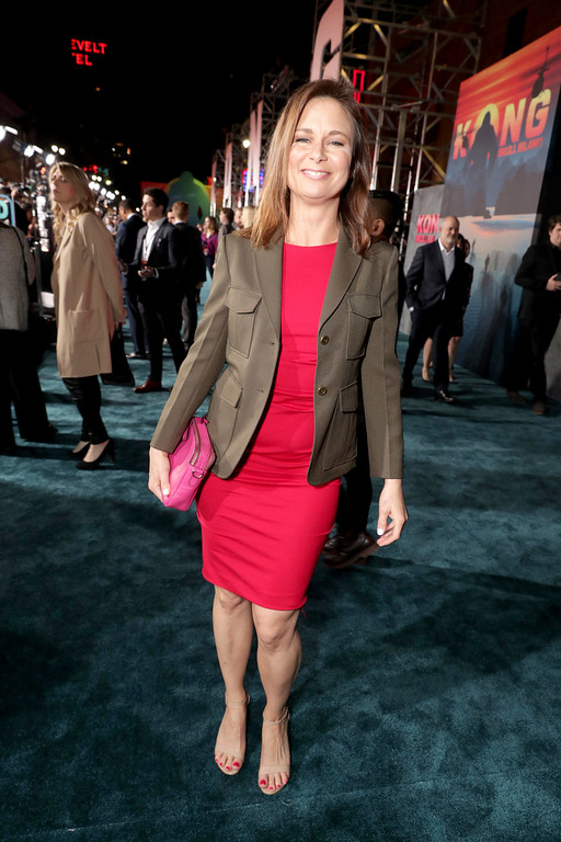""". Mary Lynn Rajskub seen at Warner Bros. Pictures and Legendary Pictures Present the Los Angeles Premiere of \""""Kong: Skull Island\"""" at Dolby Theatre on Wednesday, March 8, 2017, in Los Angeles. (Photo by Eric Charbonneau/Invision for Warner Bros./AP Images)"""