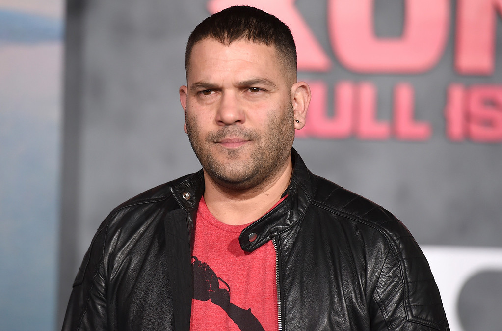 """. Guillermo Diaz arrives at the Los Angeles premiere of \""""Kong: Skull Island\"""" at the Dolby Theatre on Wednesday, March 8, 2017. (Photo by Jordan Strauss/Invision/AP)"""