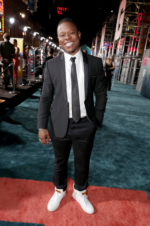 """. Jason Mitchell seen at Warner Bros. Pictures and Legendary Pictures Present the Los Angeles Premiere of \""""Kong: Skull Island\"""" at Dolby Theatre on Wednesday, March 8, 2017, in Los Angeles. (Photo by Eric Charbonneau/Invision for Warner Bros./AP Images)"""