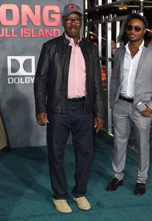 """. Courtney B. Vance arrives at the Los Angeles premiere of \""""Kong: Skull Island\"""" at the Dolby Theatre on Wednesday, March 8, 2017. (Photo by Jordan Strauss/Invision/AP)"""