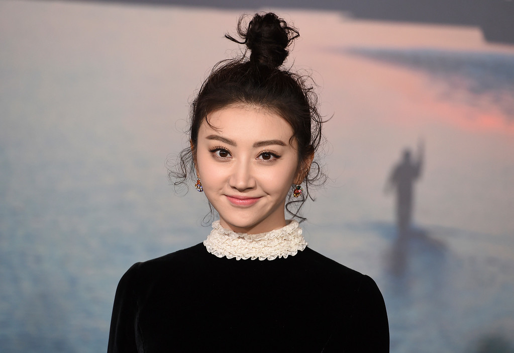 """. Jing Tian arrives at the Los Angeles premiere of \""""Kong: Skull Island\"""" at the Dolby Theatre on Wednesday, March 8, 2017. (Photo by Jordan Strauss/Invision/AP)"""