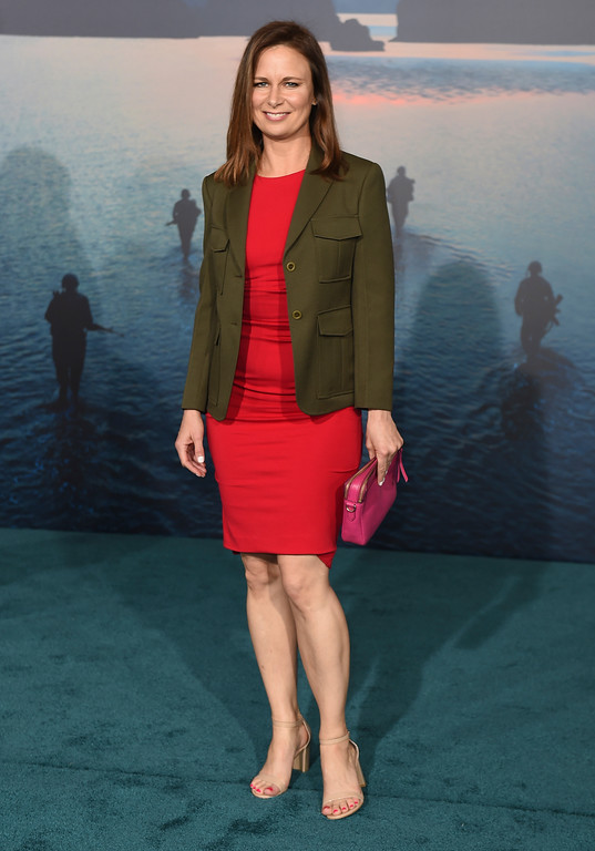 """. Mary Lynn Rajskub arrives at the Los Angeles premiere of \""""Kong: Skull Island\"""" at the Dolby Theatre on Wednesday, March 8, 2017. (Photo by Jordan Strauss/Invision/AP)"""