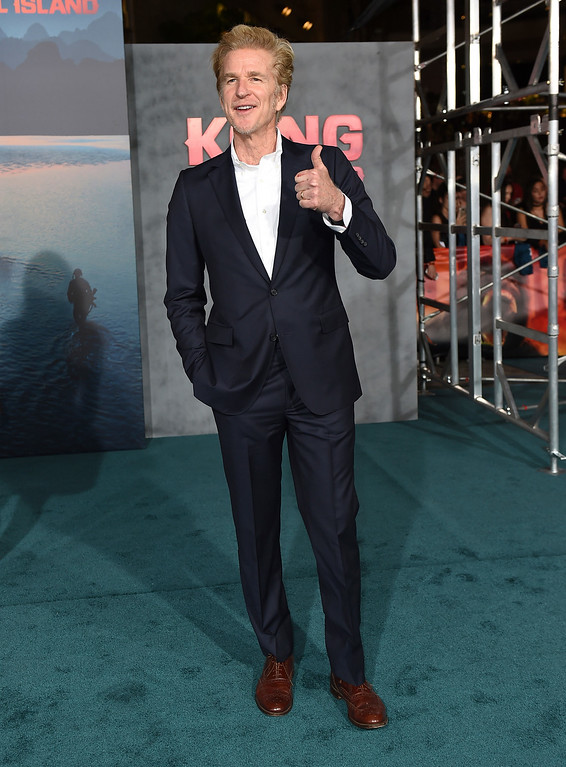 """. Matthew Modine arrives at the Los Angeles premiere of \""""Kong: Skull Island\"""" at the Dolby Theatre on Wednesday, March 8, 2017. (Photo by Jordan Strauss/Invision/AP)"""
