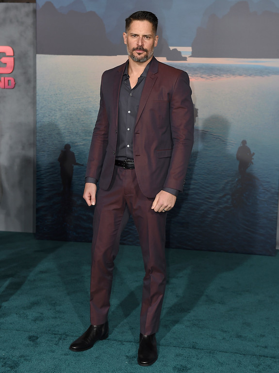 """. Joe Manganiello arrives at the Los Angeles premiere of \""""Kong: Skull Island\"""" at the Dolby Theatre on Wednesday, March 8, 2017. (Photo by Jordan Strauss/Invision/AP)"""
