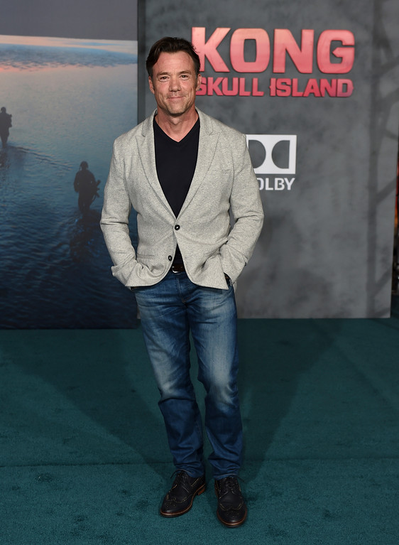 """. Terry Notary arrives at the Los Angeles premiere of \""""Kong: Skull Island\"""" at the Dolby Theatre on Wednesday, March 8, 2017. (Photo by Jordan Strauss/Invision/AP)"""