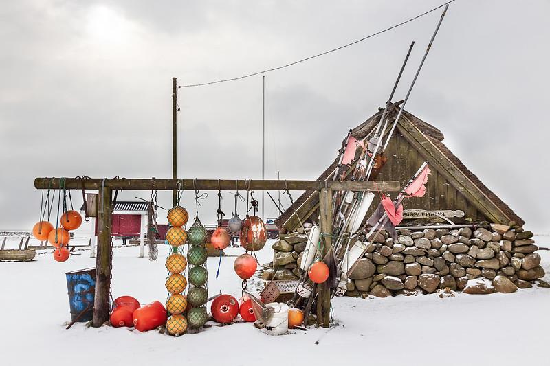 Tosteberga hamn i snö