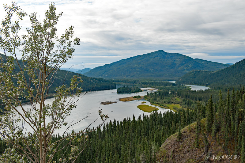 confluence of the Teslin and Yukon Rivers