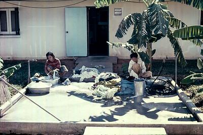 Laundry Day, Korat RTAFB, Thailand, 1974