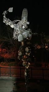 Nanta Theatre Statue out of Kitchen Utensils
