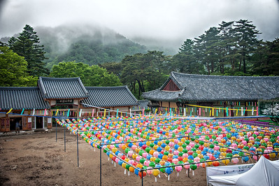 20130519_Korea_Haeinsa_MountainFogBldgsLanterns-9527
