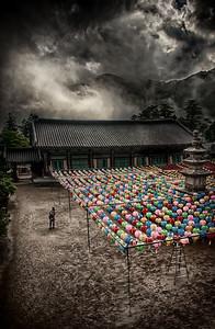 20130519_Heinsa_Lanterns_Pagoda_Bldgs_Forest_Clouds_HDR-mixed-