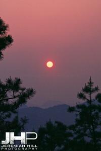 """Night Falls on Bibong"", Anseong, South Korea, 2008 Print KOR3-428-044"