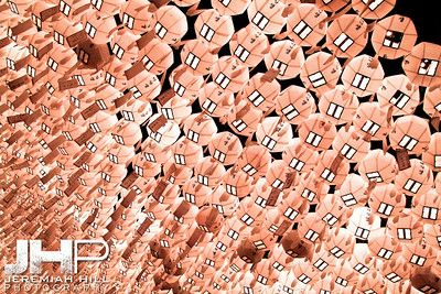 """""""White Lanterns #1"""", Seoul, South Korea, 2008 Print KOR3-55-197"""